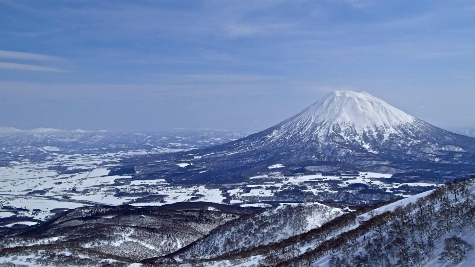 Ski touring on Mt Yotei, Hokkaido