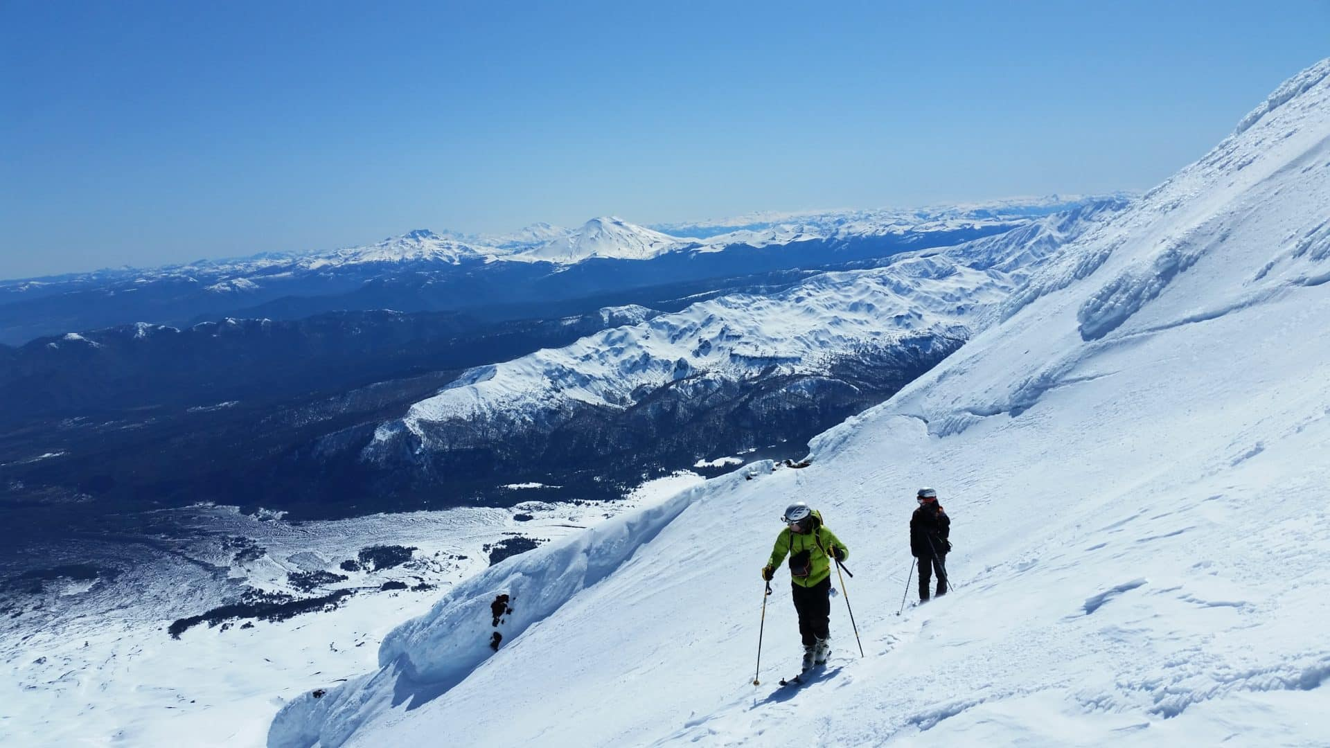 Ski touring in the volcanoes in Chile