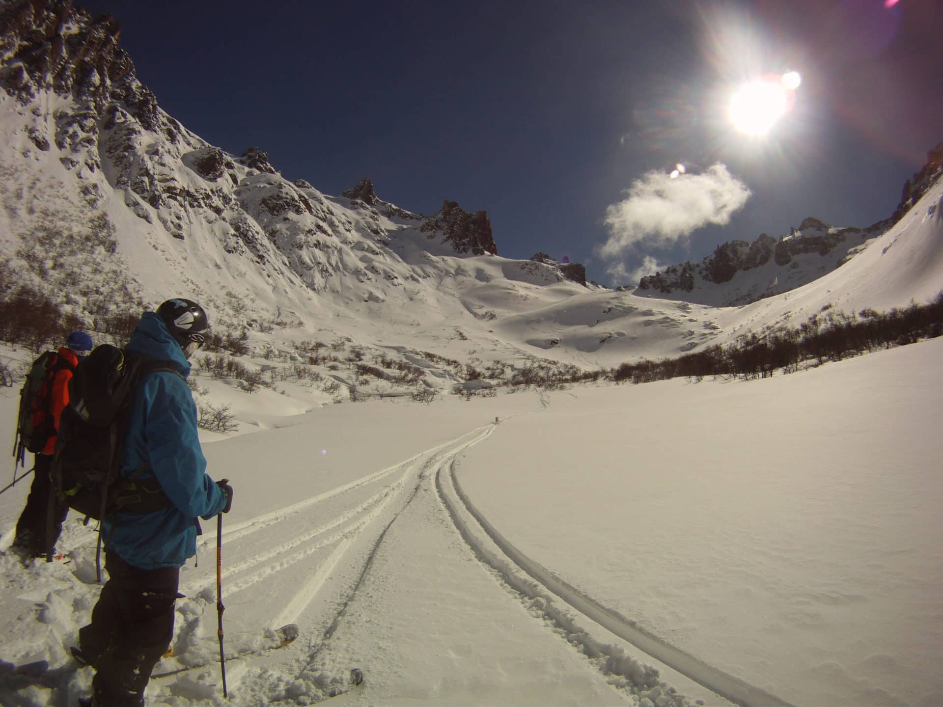 Backcountry skiing week in Patagonia with a guide