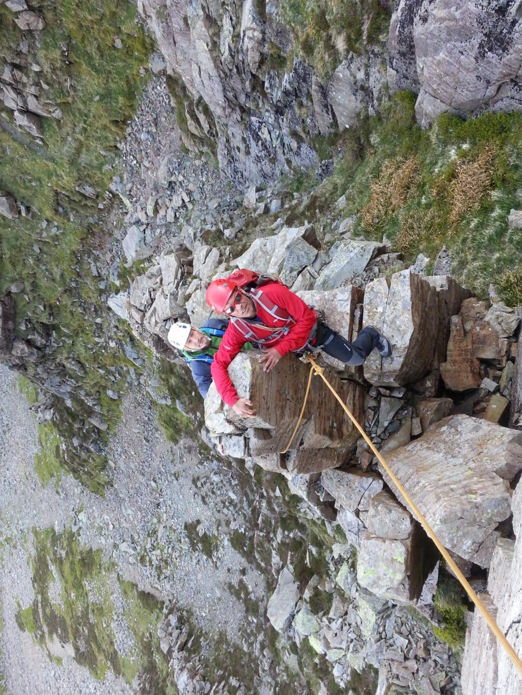 Mountain scrambling in the British Lake District