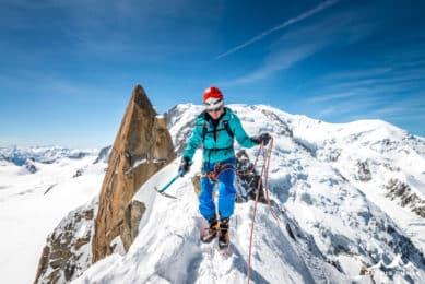Cosmiques ridge guided climb