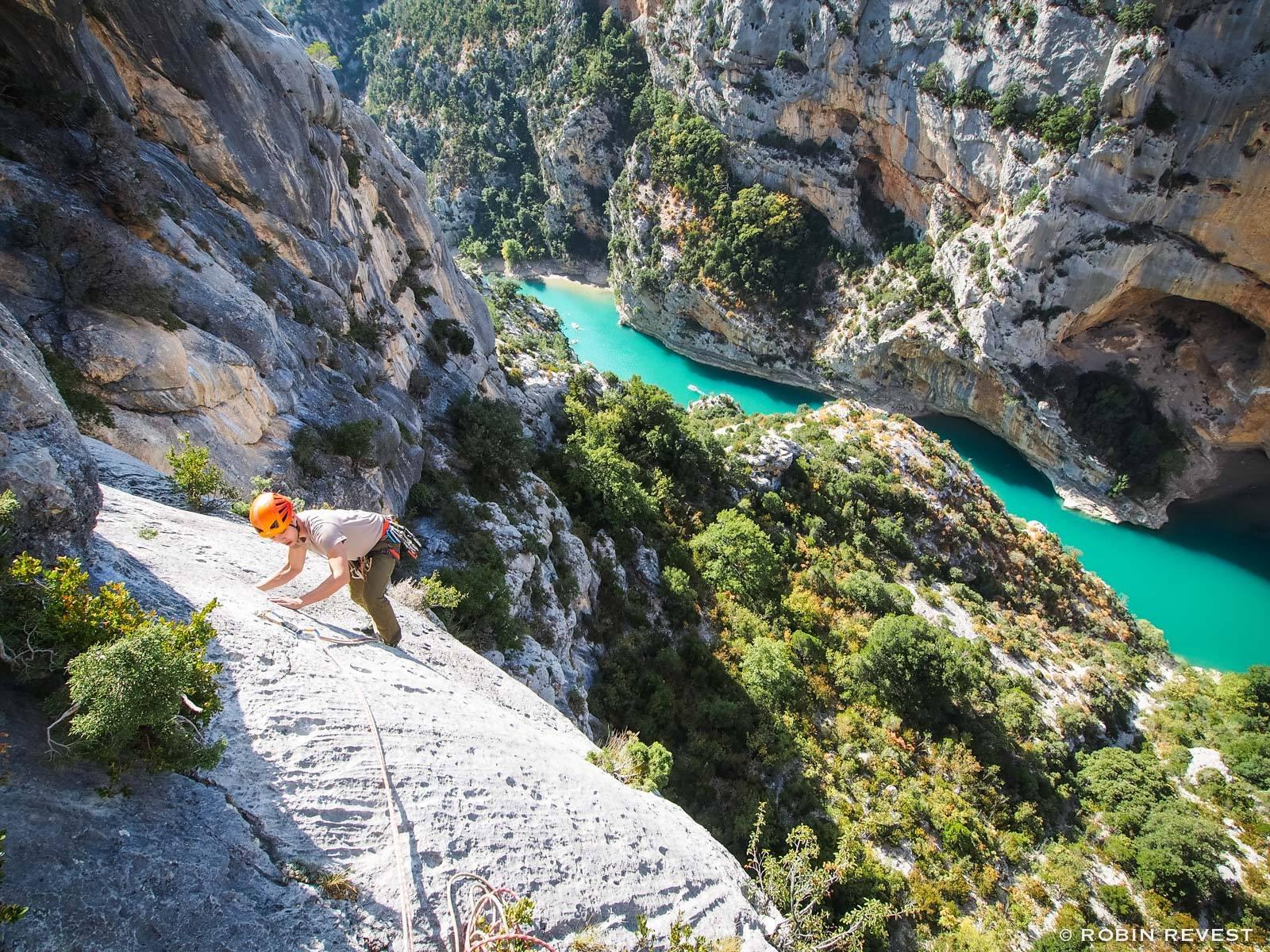 Climbing in les Gorges du Verdon