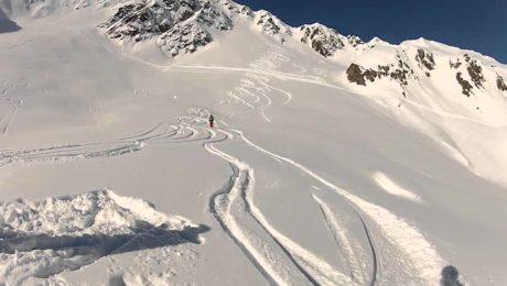 Freeride skiing Andermatt