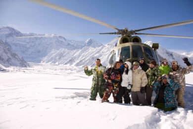 Heliskiing in Karakol, Krzygyzstan