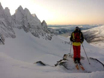 Ski touring in Narvik