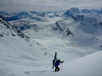 Ski touring in the Lyngen Alps