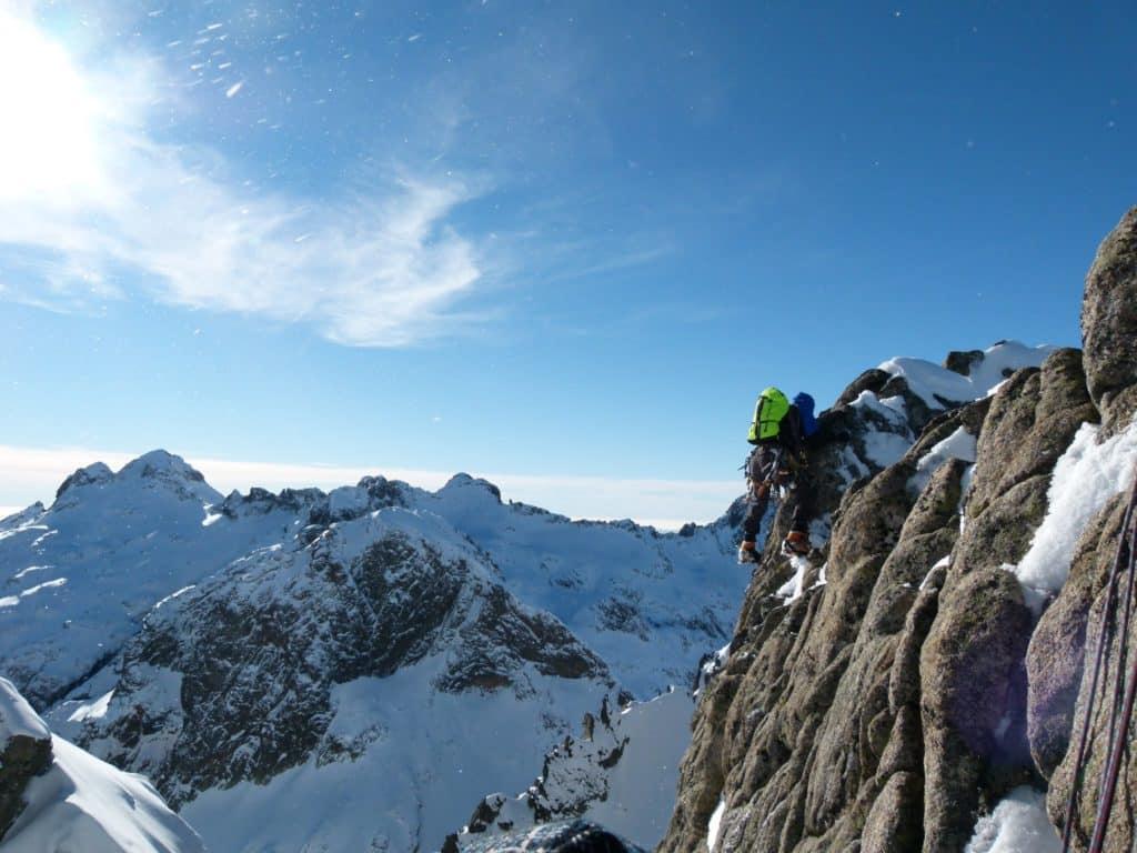 Rock climbing in Corsica Restonica