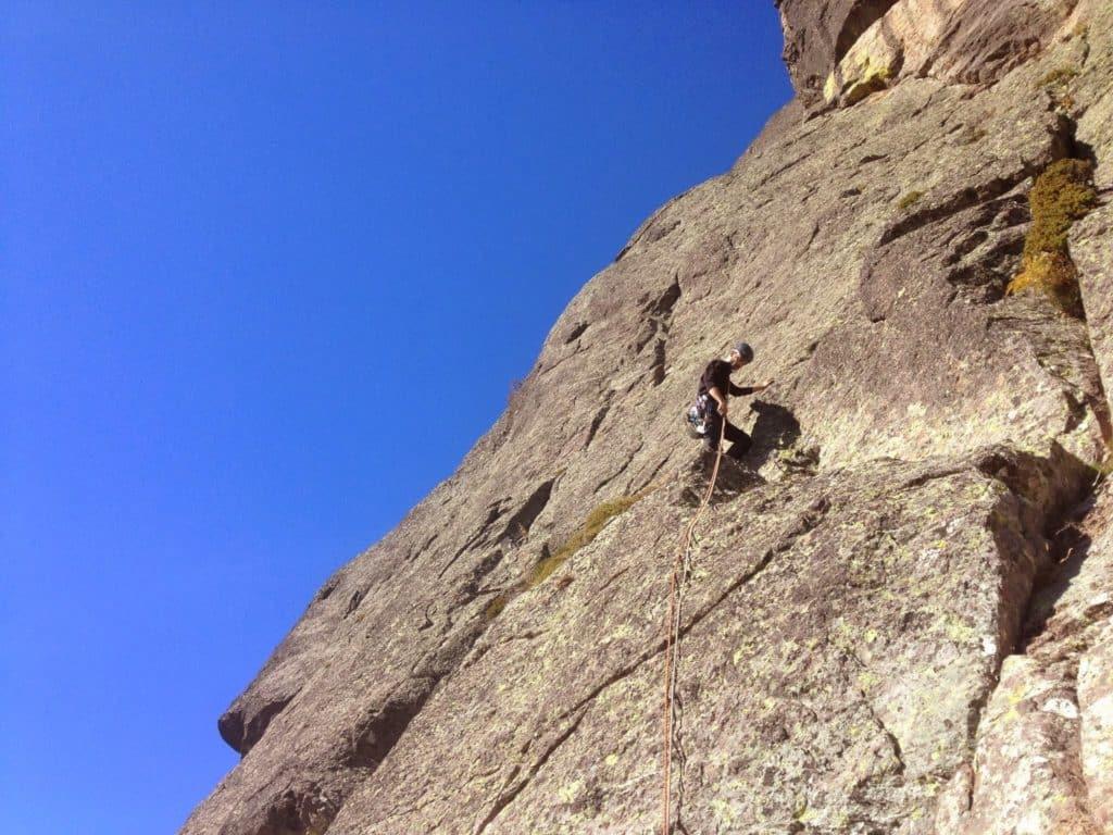 Rock climbing in Corsica Asco
