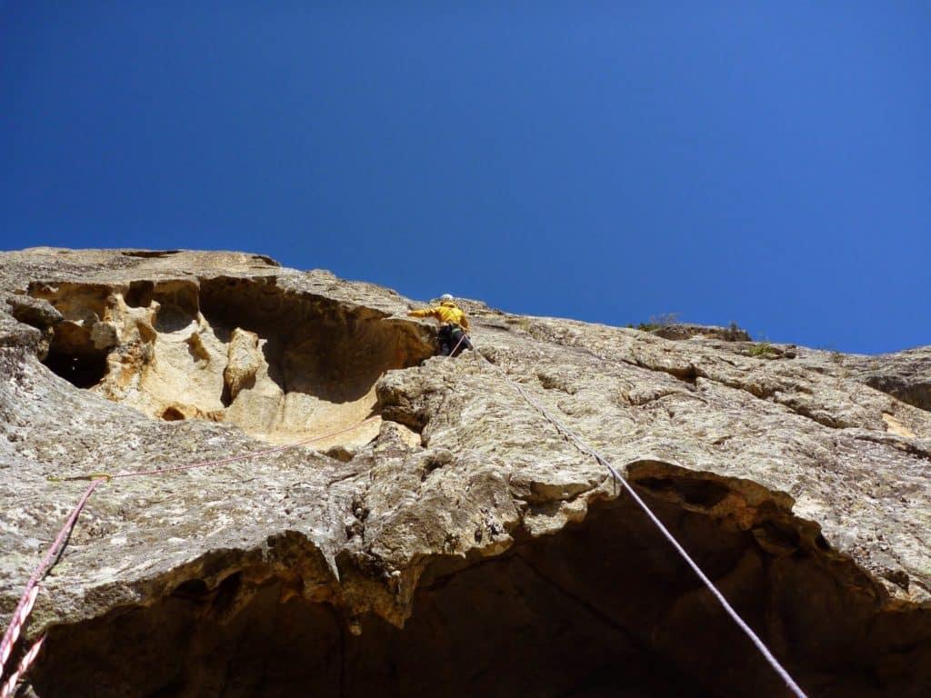 Rock climbing in Corsica Tavignanu