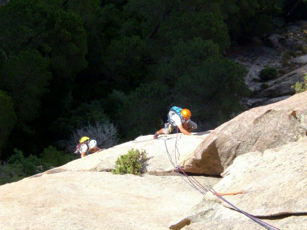 Rock climbing in Corsica Bavella