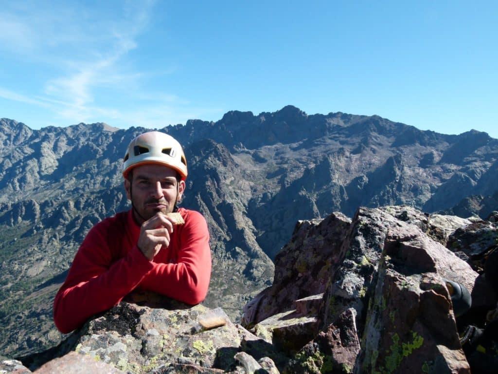 Rock climbing in Corsica.
