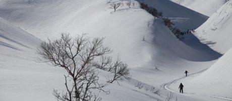 4-day backcountry ski Rishiri
