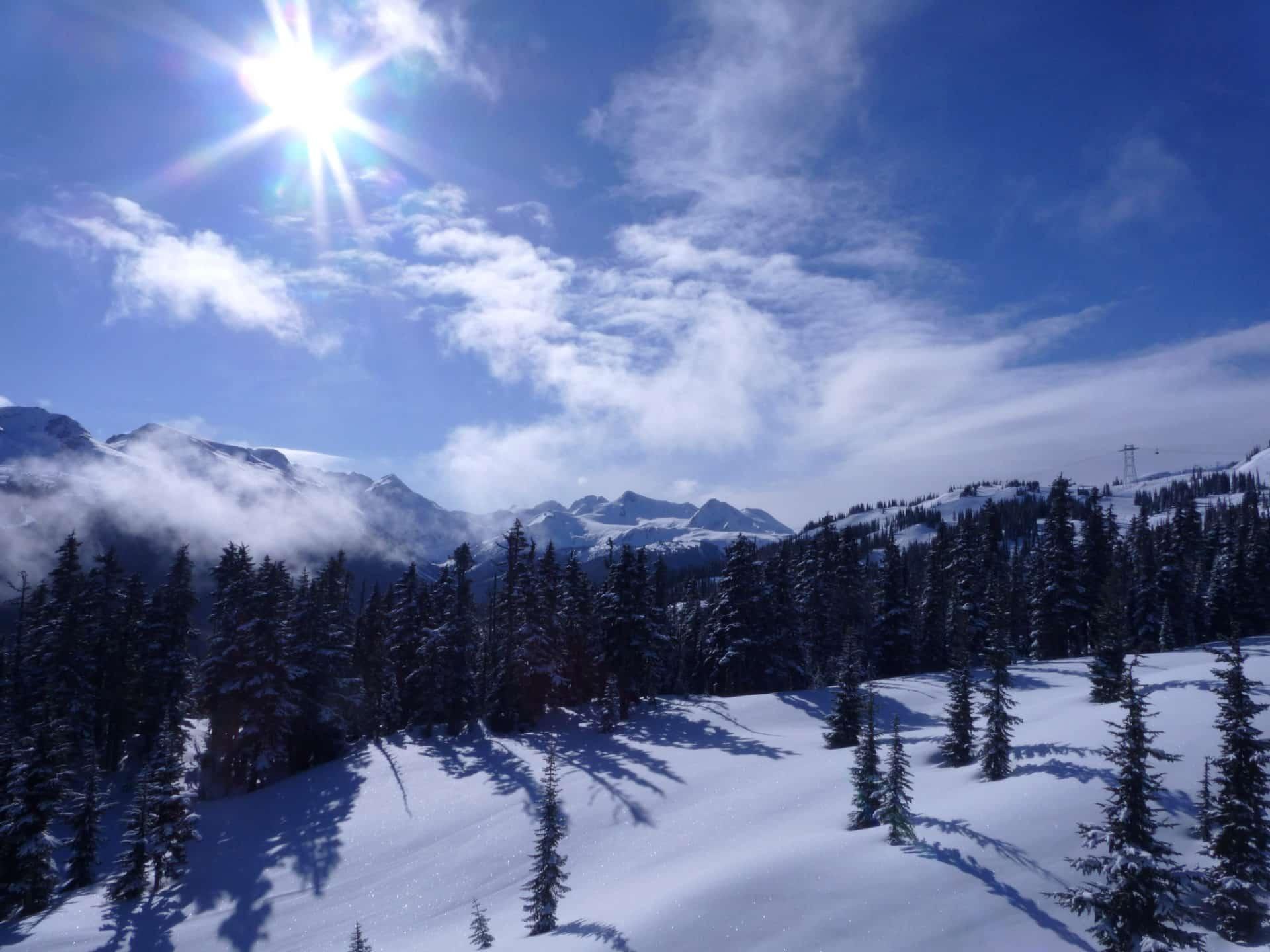 Backcountry ski touring in Whistler, BC