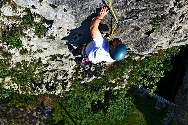 Rock climbing near Bled, Slovenia (3 routes)