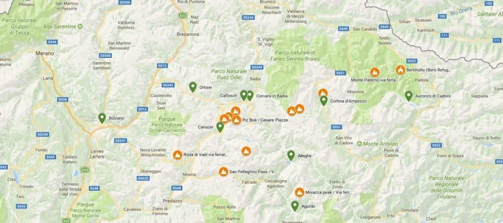 dolomites-via-ferrata-map