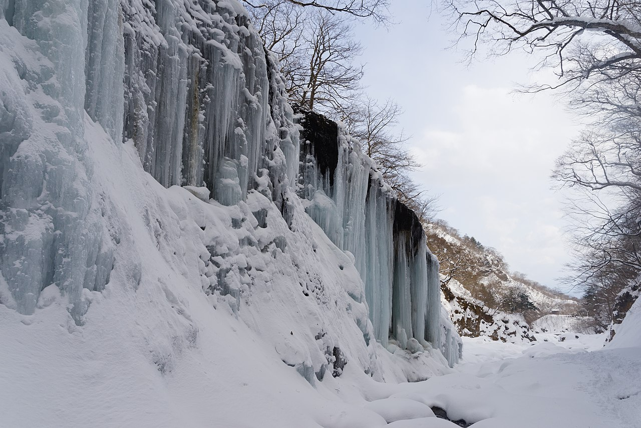 Ice climbing courses in Japan