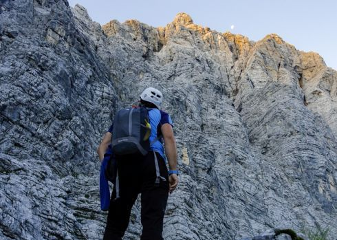 Multi-pitch climbing in Triglav: the face of Sphinx