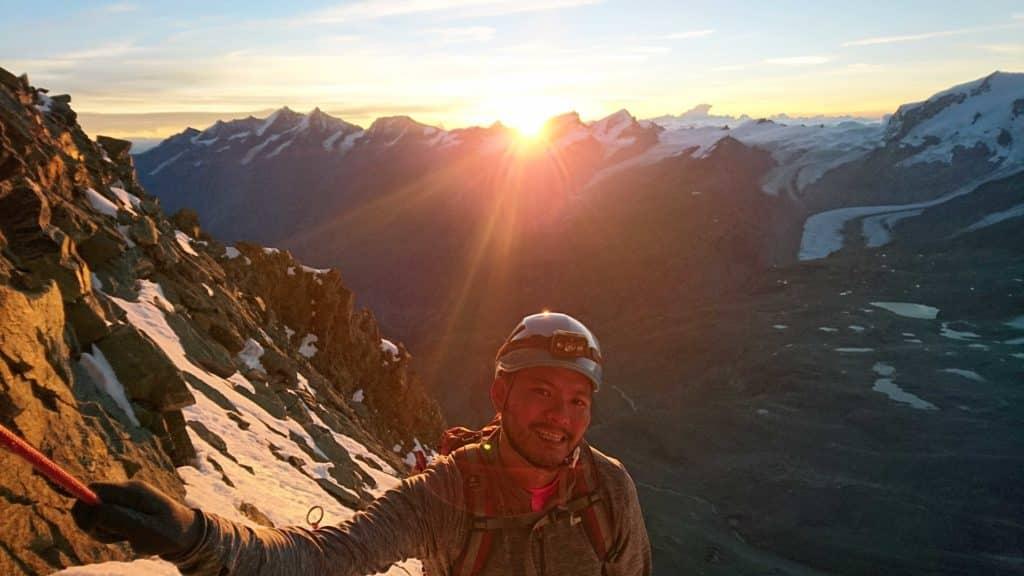 Junsuke climbing Matterhorn