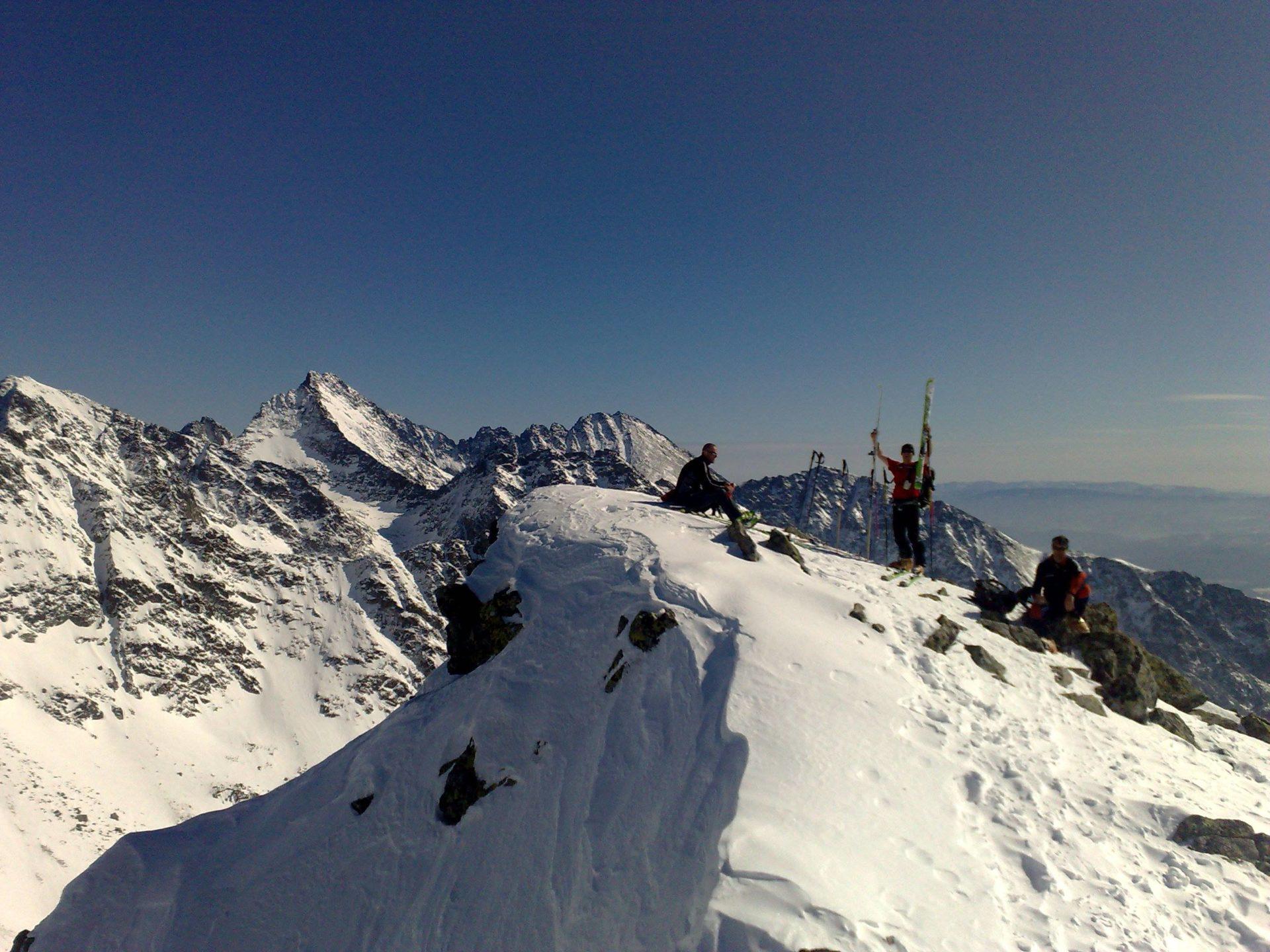 High Tatras ski touring days from Popradske Lake