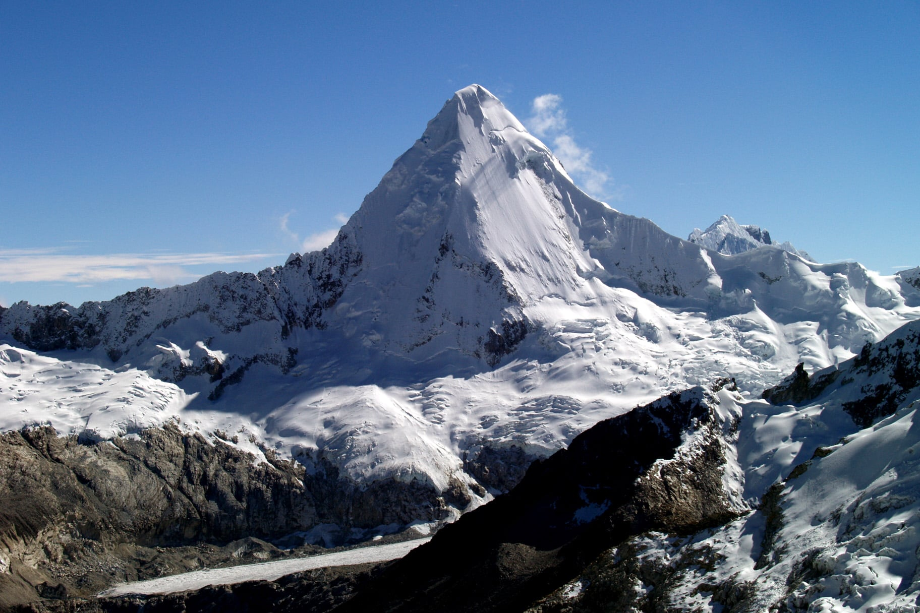 4-day ascent to the Artesonraju in the Peruvian Andes