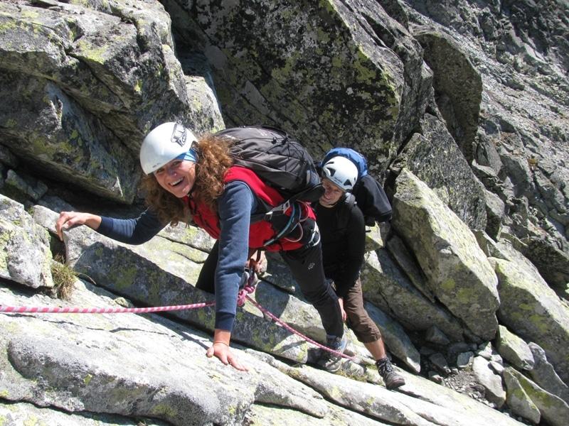 Climbing Vyzoka Peak in the Slovakian Tatras