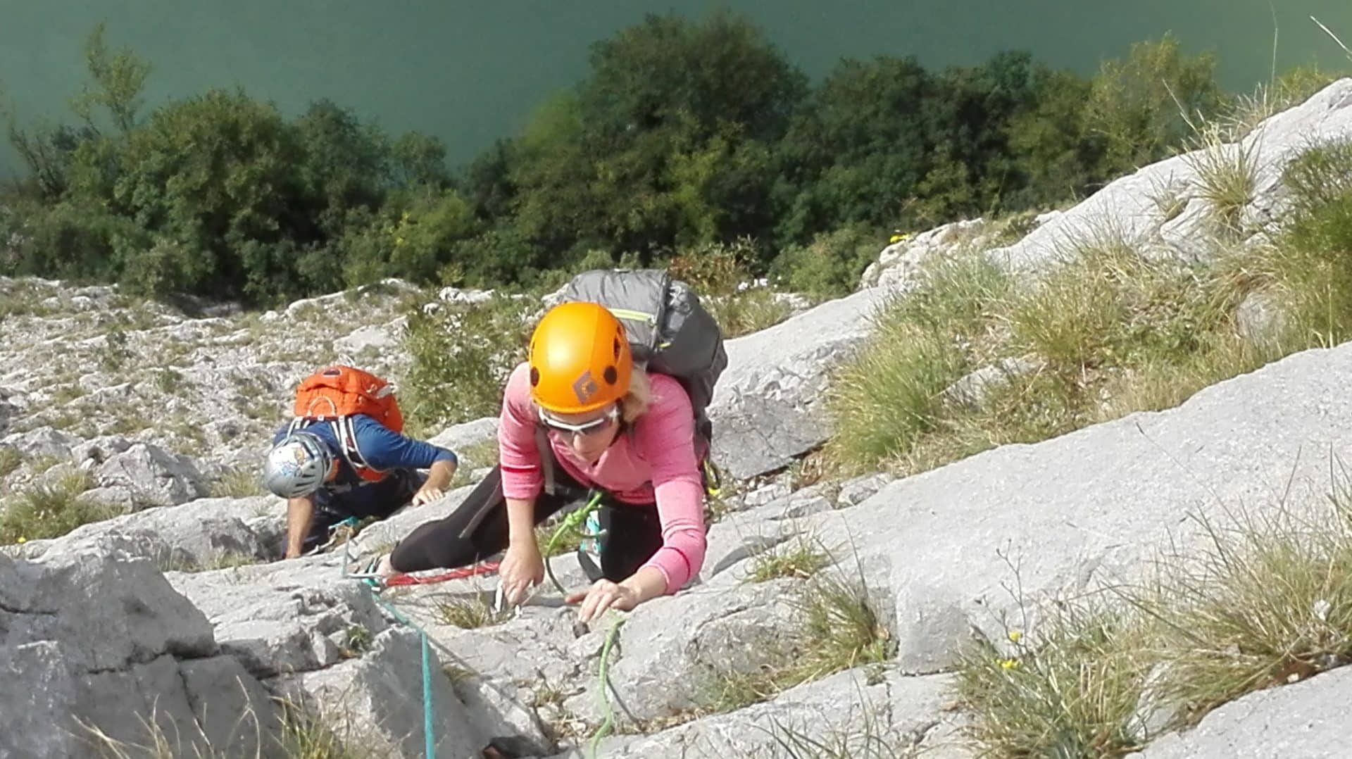 Intermediate or advanced climbing for women in Sarca Valley