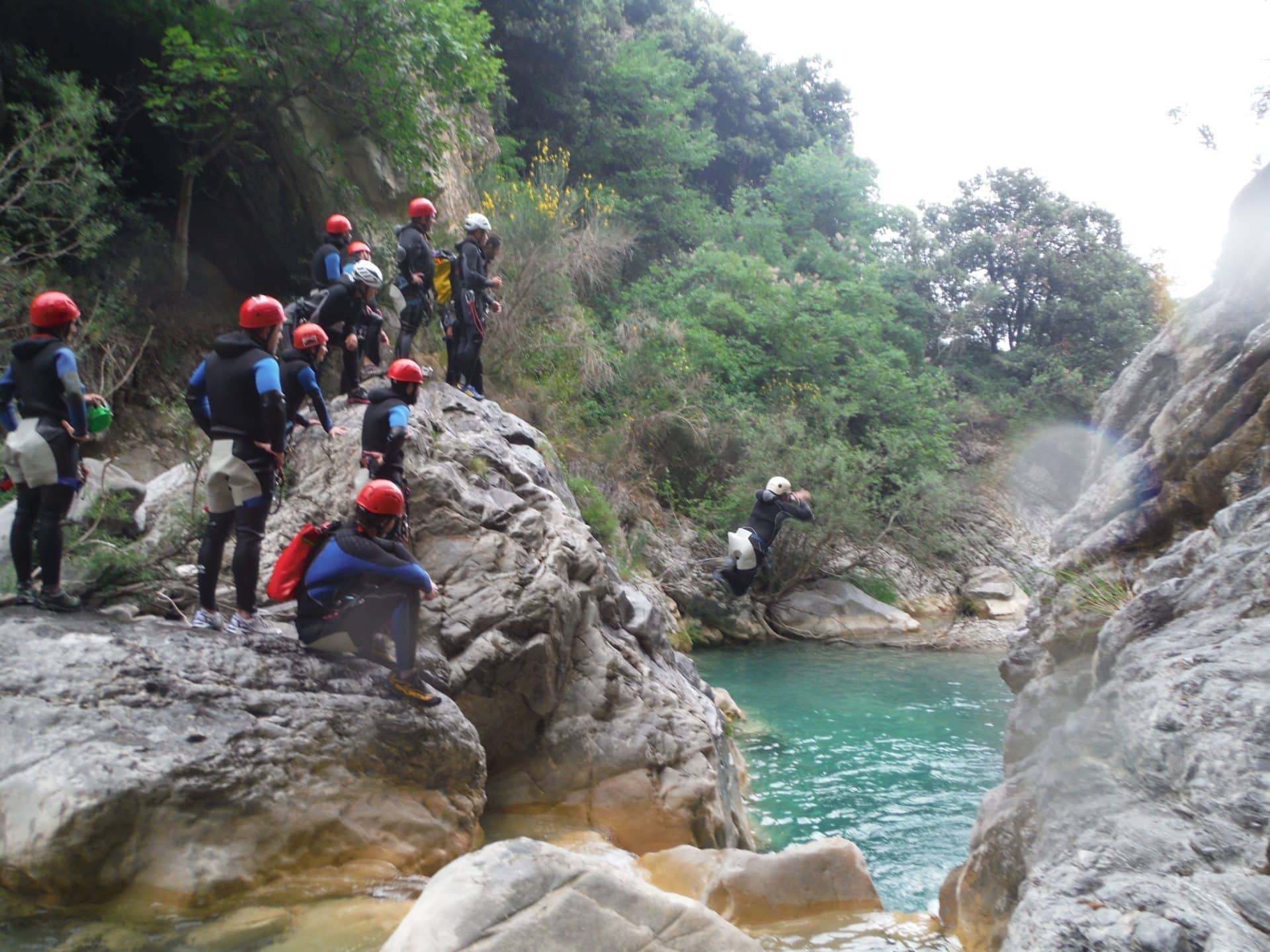 Canyoning day trips in northern Italy