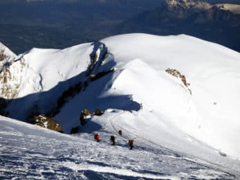 Japanese climber on Mont Blanc