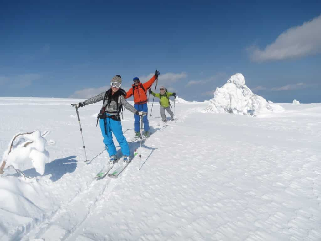 Sapporo backcountry skiing, private guided trip
