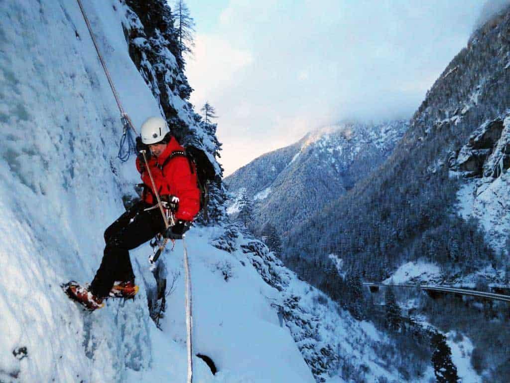 Winter alpine climbing in Slovenia