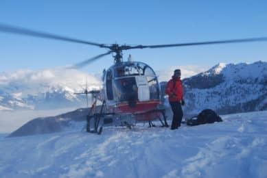 3-day heliskiing program in the Alps