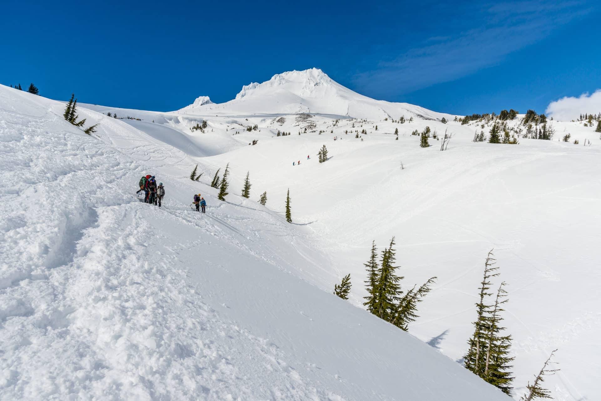 Climbing Mount Hood (3,429m) via Reid Glacier Headwall