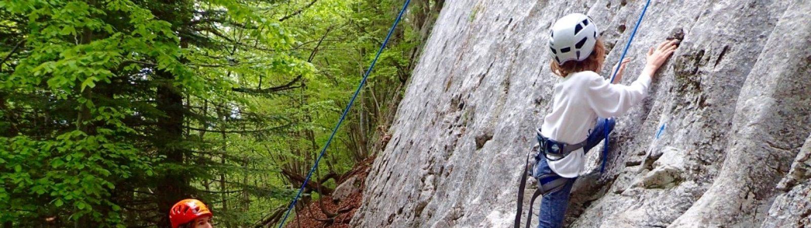 Family climbing day close to Geneva