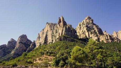 Montserrat multi-pitch rock climbing