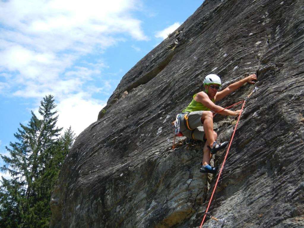 Rock climbing day close to Geneva