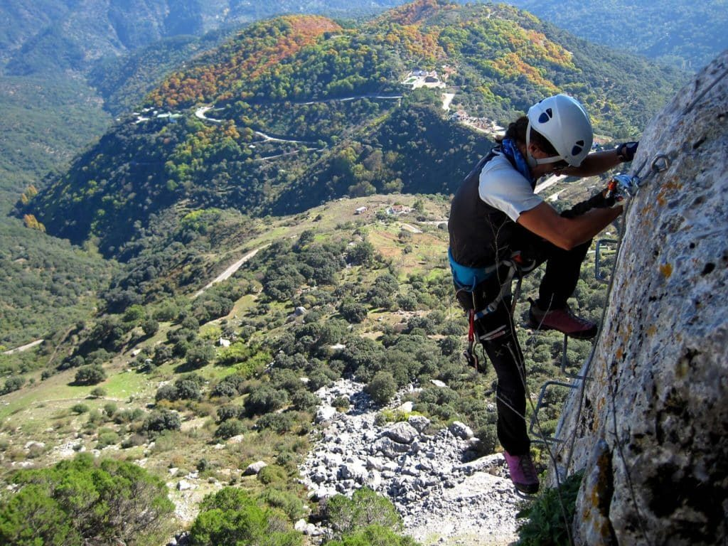 Types of climbing: via ferrata