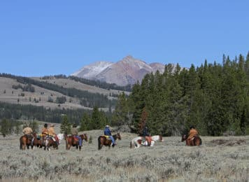 2-day horseback riding trip in Yellowstone
