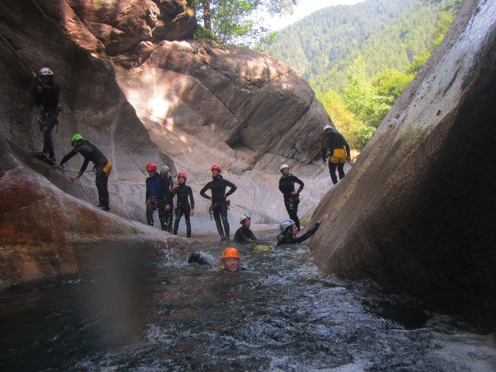 Canyoning day trip in Val Bodengo for beginners