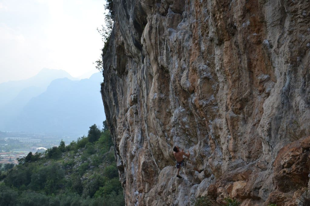 Guided multi-pitch climbing around Arco, Sarca Valley