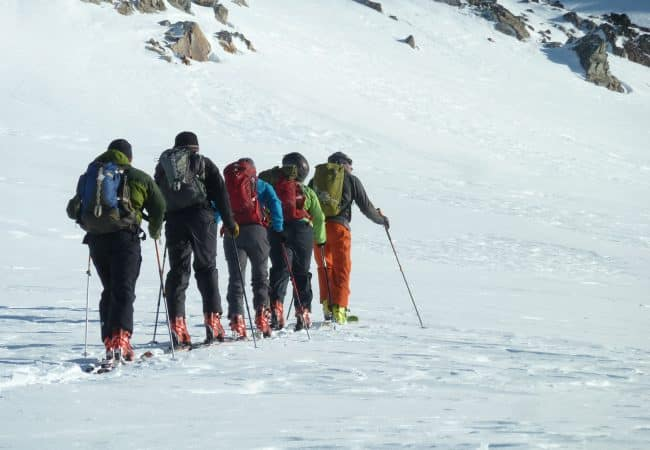 6-day hut to hut backcountry skiing tour in Baguales