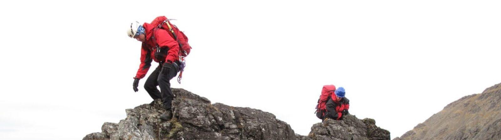 4-day climbing traverse on the Cuillin ridge