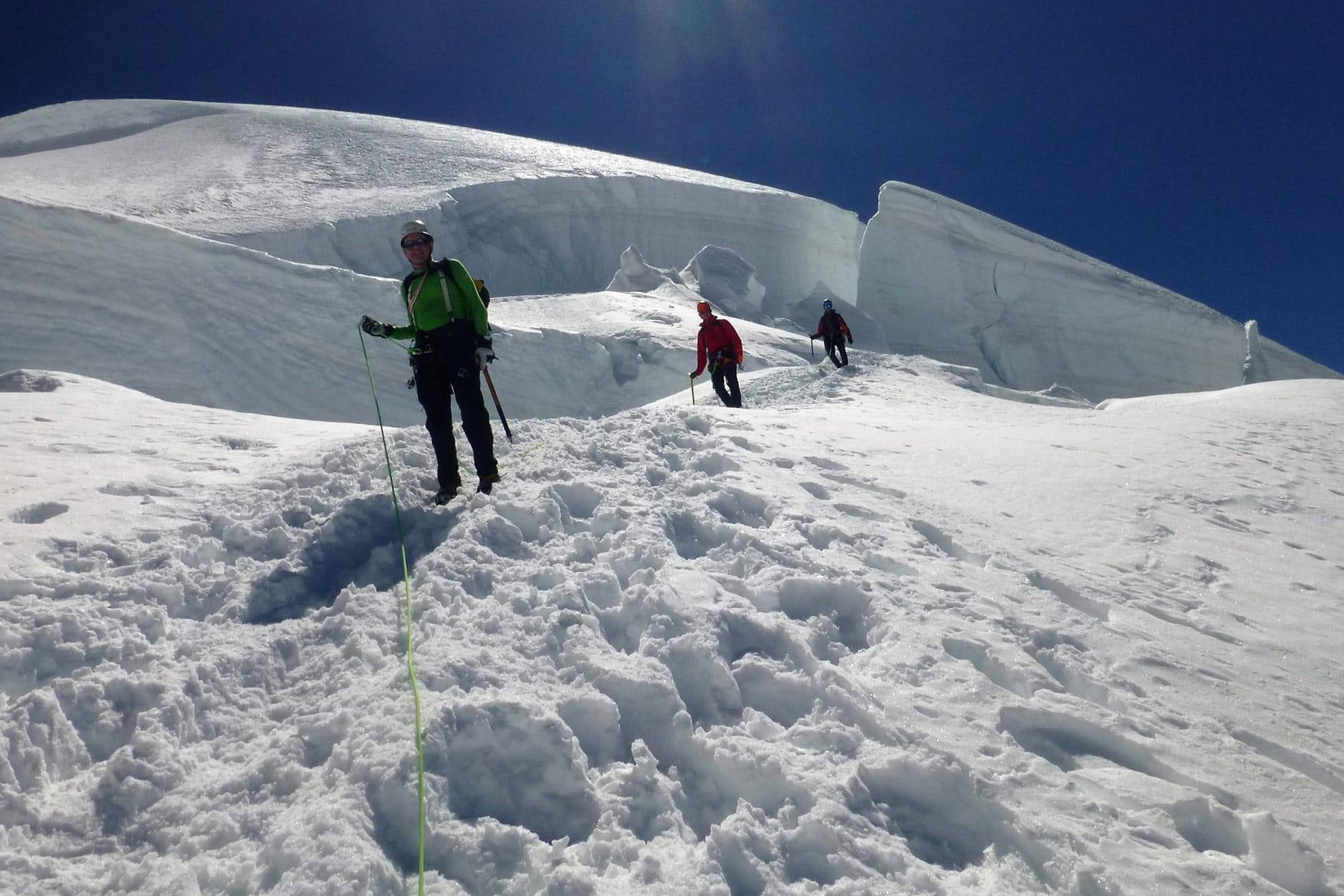 8 summits mountaineering tour in Gran Paradiso and Monte Rosa