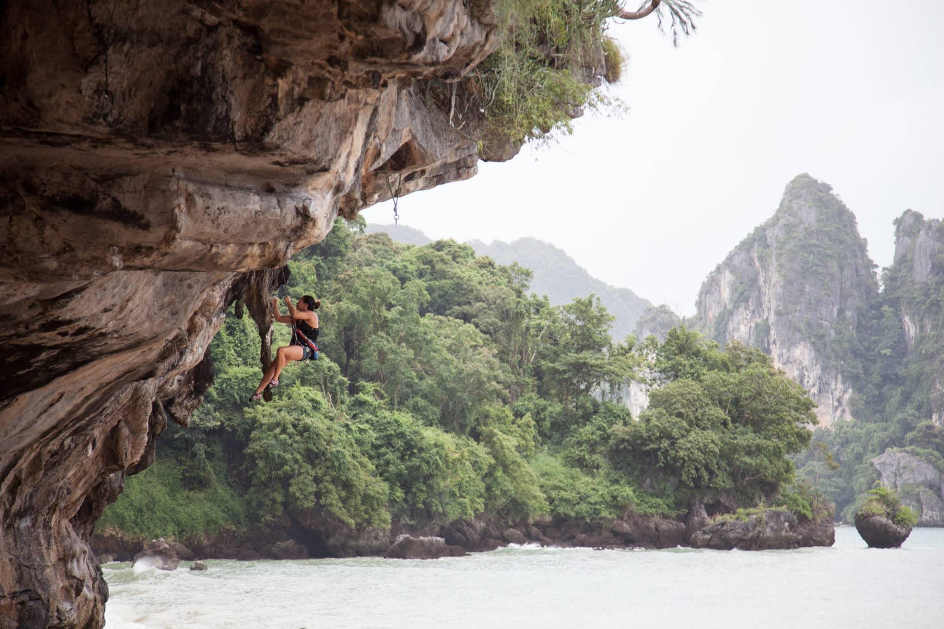 Full day rock climbing tours at Railay Beach, Thailand