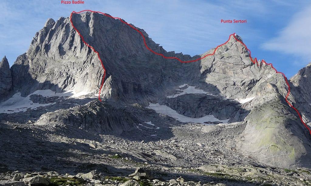 Piz Badile via Marimonti and East Ridge 2-day climb