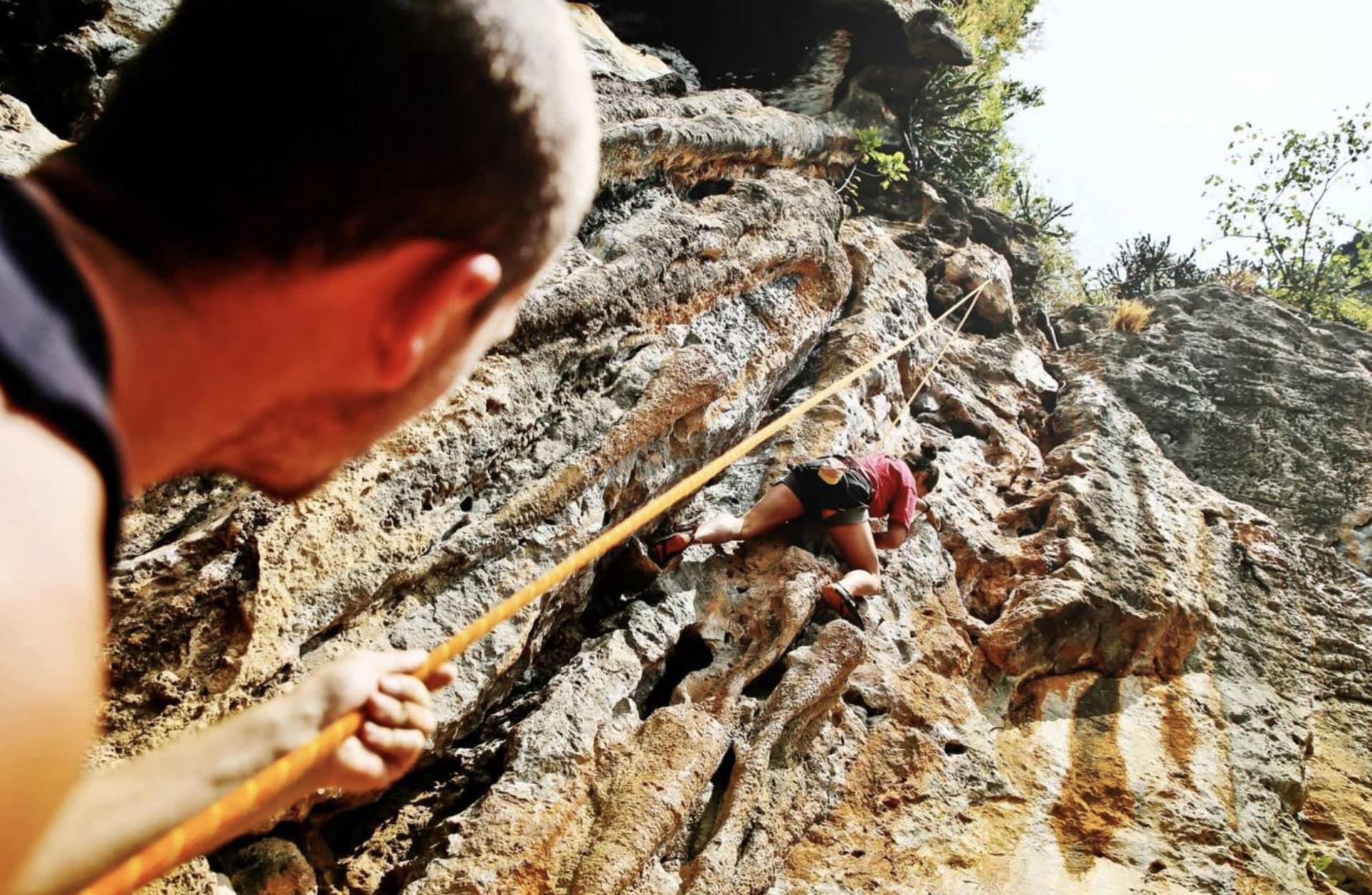 Half-day beginner rock climbing in Railay, Thailand