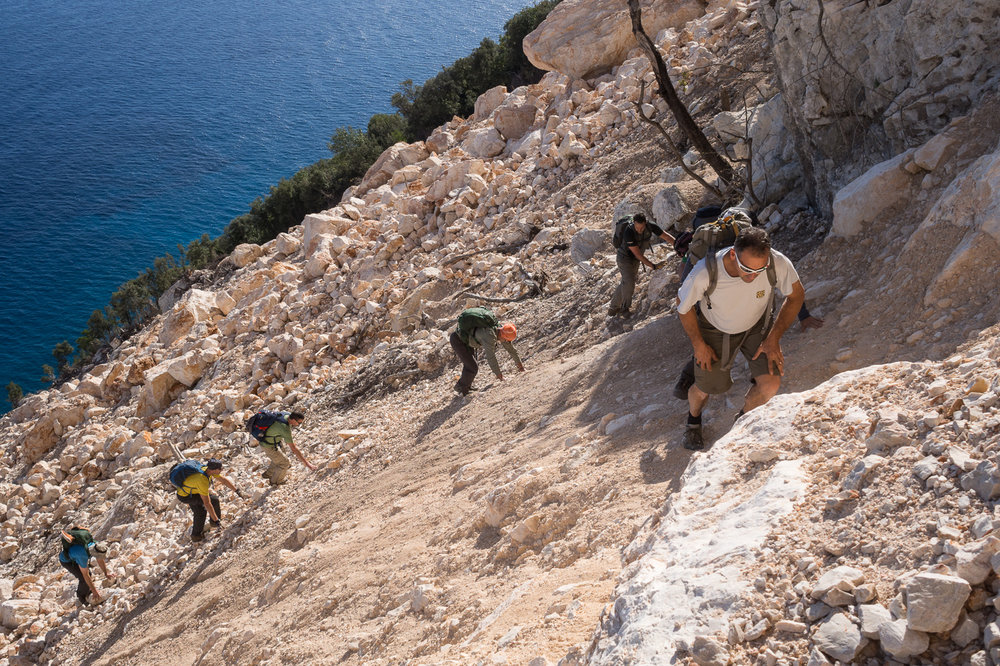 Selvaggio Blu hike - Sardinia, Italy. Hiking in the Mediterranean Sea.