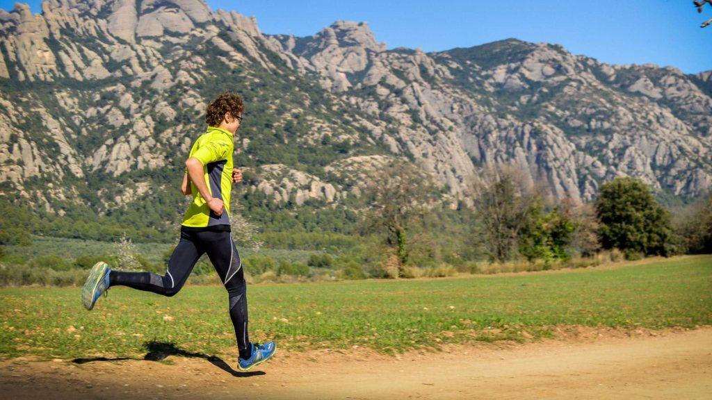 Trail running near Barcelona