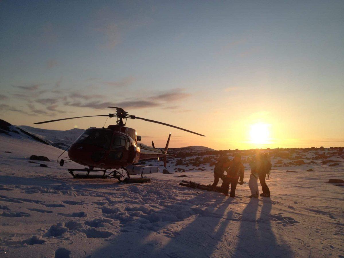 Heliskiing in Greenland