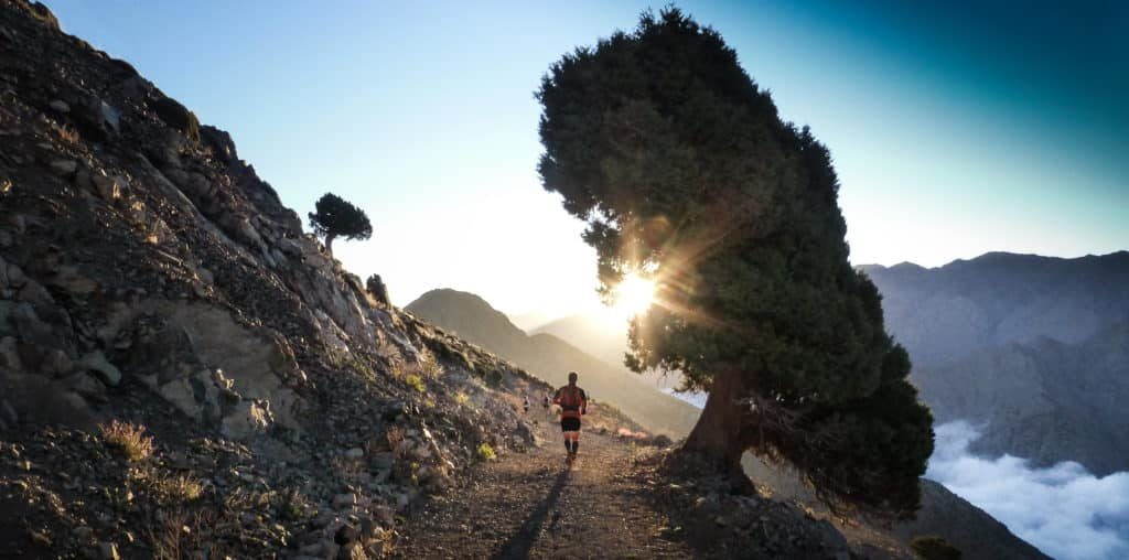 Trail running in the Atlas Mountains of Morocco