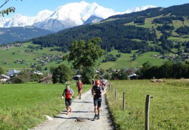 Trail running near Chamonix